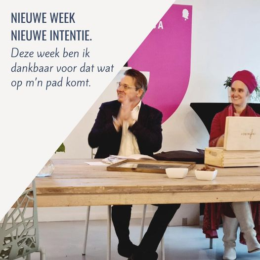 intentie van de week